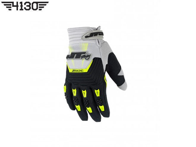 [쥬니어 사이즈 입고] JT Racing THROTTLE GLOVE -White / Black / Green- [XS / S 사이즈 중 선택]