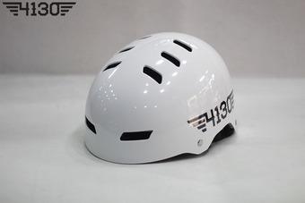 4130 BMX 하프 헬멧 [조절식 프리사이즈] -Glossy White-