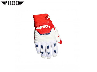 JT Racing 스로틀 GLOVE -White / Red- S 사이즈